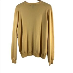 Brooks Brothers Sweaters - Brooks brothers yellow large sweater v neck